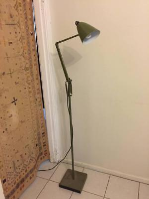 Vintage retro Industrial Olive Green Planet Floor Lamp Light Studio K anglepoise