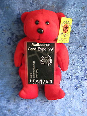Beanie Kids Ruby The Red Bear Bk 41 Melbourne Card Expo 1999 Commemorative Rare