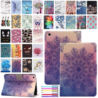 For iPad 9.7 2017/Air 1 2 Leather Painted Case Flip Card Holder Magnetic Cover