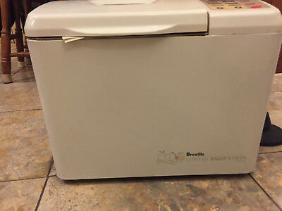 bread machine breville ultimate bakers oven with booklet