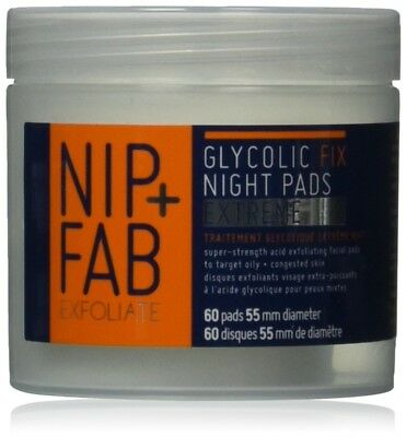 Nip+Fab Glycolic Fix Extreme Complexion And De-congest The Skin Night Pads 80ml