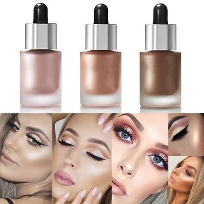 3 Color 3D Highlighter Face Powder Palette EyeShadow Bronzer Gold Pink Beauty