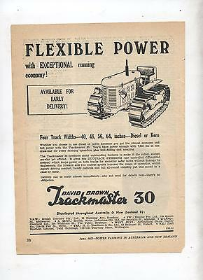 David Brown Taskmaster 30 Crawler Tractor Advertisement from 1953 Farm Magazine