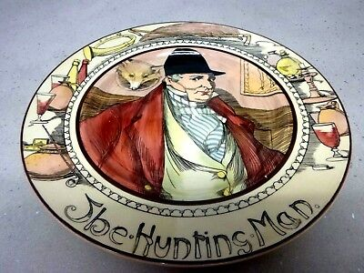 Royal Doulton Series Ware Plates - Vintage - The Hunting Man & The Mayor - 2 Of