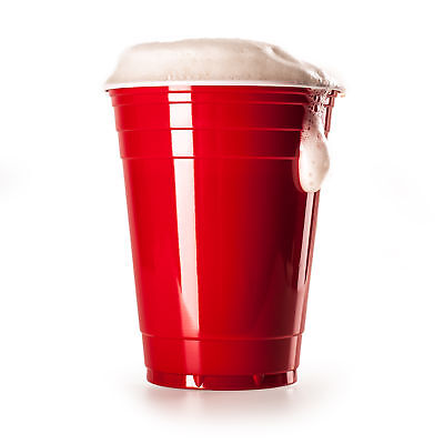 100 Stück Rote Partybecher Party Cups Trinkbecher Red Cups Beer Pong Bier Pong