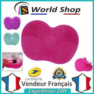 Tapis Silicone Nettoyage Pinceaux Maquillage Plaque Cleaner Brush