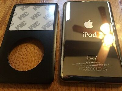 Black Faceplate Housing back Case  for iPod 6th/7th Classic Thin 120GB