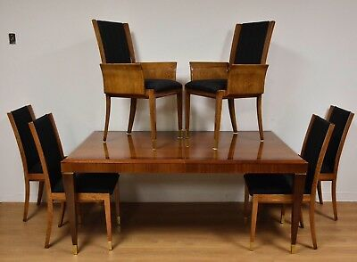 Mahogany Henredon Dining Table and Chairs