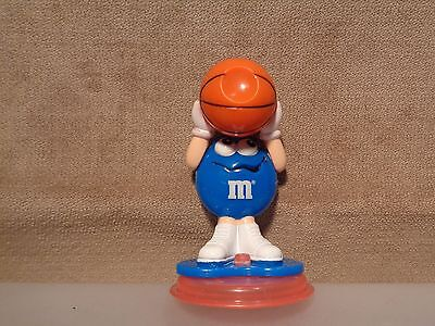 """Blue M&m With A Basketball """"m&m Tosser"""" Action Figure Cake Topper  (M&m12)"""