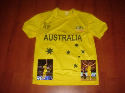 Australian Cricket World Cup Winning Jersey signed by Mitch Marsh