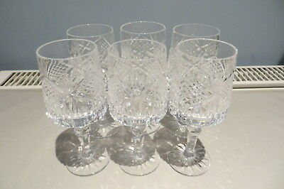 Six Tyrone Crystal 5 Inch Sherry / Port Glasses 'slieve Donard' Exc. Condition