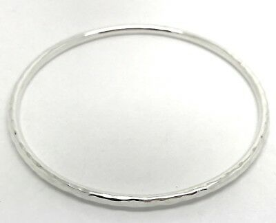 Dower & Hall Nomad Solid Sterling Silver Hammered Curved Torque Bangle 9O36BL1BD2