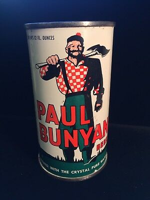PAUL BUNYAN *ON Grade1/1+* FLAT TOP BEER CAN WAUKESHA,WI *CAN IS A CHERRY!!!*