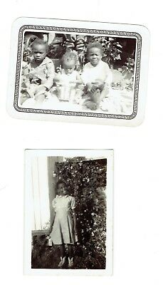 2 Orig.Vintage Snapshot Photos Young African-American Children 1 Photo From 1946