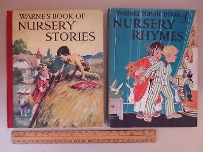 1930 Warne Topall Nursery Rhymes / Stories 2 books illustrated Robinson et al