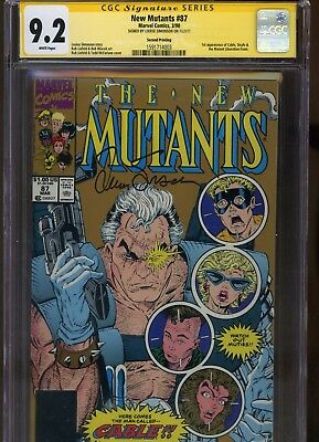 New Mutants #87 CGC 9.2 SS Louise Simonson 1990 SECOND PRINT 2nd 1st CABLE