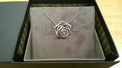 NEW Clogau White & Rose Gold Royal Roses Diamond Pendant SAVE 70% OFF RRP £2260