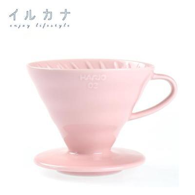Hario V60 Ceramic Coffee Dripper Pink Limited Edition for 1-4 Cups (Size: 02)