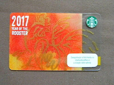 STARBUCKS CARD ( to collect no value ) Tsjechië  2016  Year of the Rooster