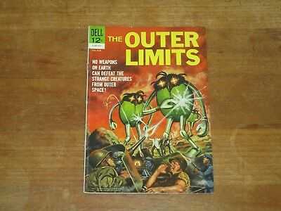 1964 The Outer Limits #1 Dell Silver Age Sci Fi Space Aliens Cover Nice Grade!