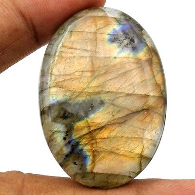 90.50ct 100% Natural Flashing Labradorite Gemstone Untreated Oval Loose Cabochon