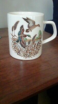 Vintage Holkham Pottery Flying Ducks Mug.