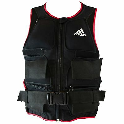 Adidas Weighted Vest 10kg Adjustable Weight Lifting Strength Training Jacket
