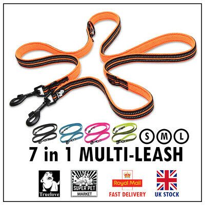 TrueLove 7 in 1 Multifunctional Strong Versatile Dog Lead Max Length 2m / 6.5ft