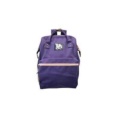 74bdb7425ca5 anello Poly canvas Backpack Small Back Fastener side pocket AT-B0197B PU  Purple