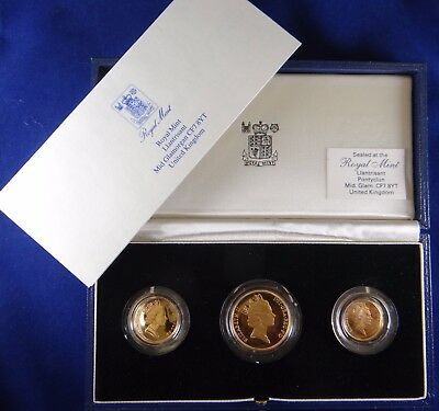 3- Piece Gold Coin Proof Set, United Kingdom 27.95 grams (35666)