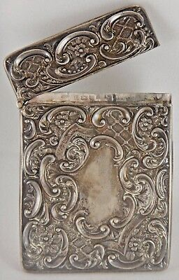 Antique Crisford & Norris Sterling Silver Card Case (54608)