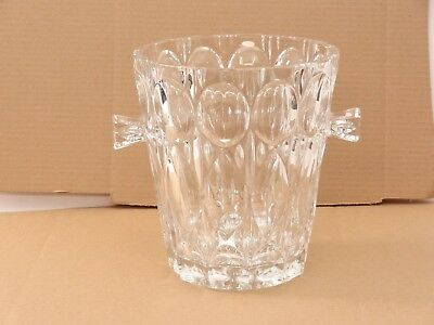 Crystal Champagne Ice Bucket with Handles 8 1/2 Inches Tall