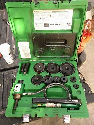 "Greenlee 7310SB 1/2"" to 4"" Hydraulic Knockout 767 Pump 746 ram punch set"
