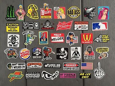 NEW WELDER (40) Hard Hat Stickers HardHat Sticker & Decals, Welding Helmet, Hood