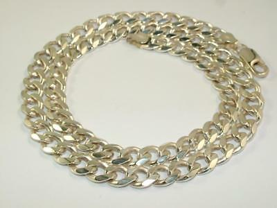 49 g HEAVY MENS NECKLACE CURB NECK CHAIN SOLID SILVER 20 INCH 1.7 oz STERLING
