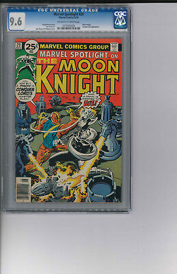 Marvel Spotlight #29 CGC 9.6 NM+ OwWp 2nd Solo Moon Knight 1976. HOT BOOK!