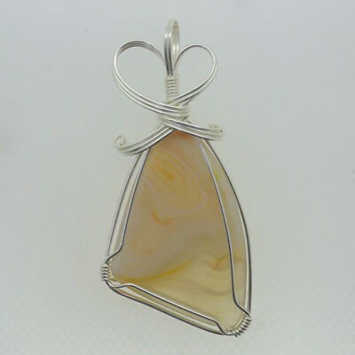 925 Silver Plated  Gemstone Pendant Necklace C1709 0218
