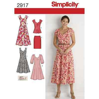 Simplicity Sewing Pattern 2917 Misses & Plus Size Dresses