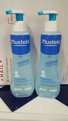 (2)Mustela be'be' 10.14 oz PhysiObe'be' No Rinse Cleansing Water SHIP DAILY