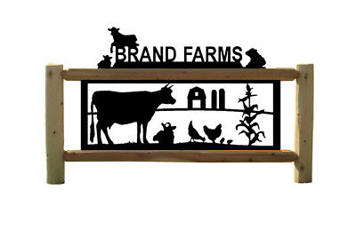 Farming Sign - Dairy Cattle - Cows - Farm & Country Outdoor Personalized Signs