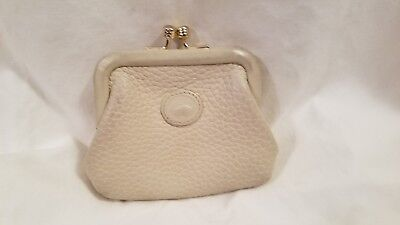 Vintage Doonney And Bourke  Kisslock Change/coin Purse In Creme