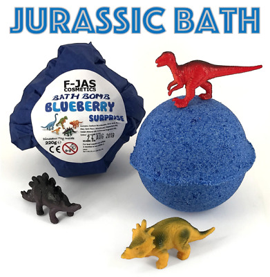 F-JAS Blueberry Scented DINOSAUR Surprise Toy BATH BOMB 220g