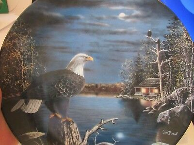 Bradford Exchange Plate.  Silent Guard from World of the Eagle Series, Jim Hanse