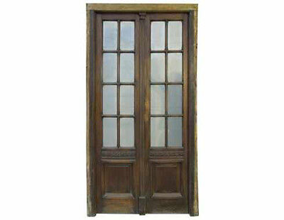 Antique Double French Patio Door Glass Installed #C1338