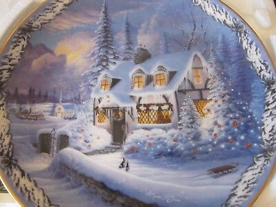 Bradford Exchange Plate. Goodnight dear friends from Christmas in the Village co