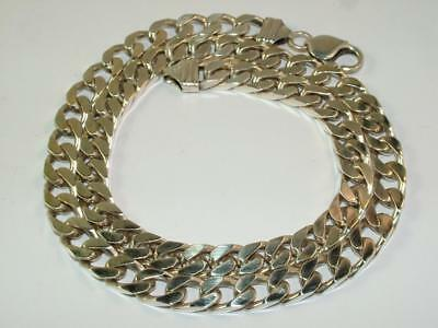 63.7 g HEAVY MENS NECKLACE CURB NECK CHAIN SOLID SILVER 20 INCH 2.2 oz STERLING