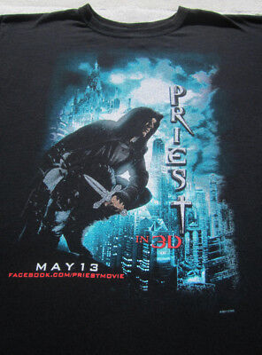 PRIEST in 3D movie premiere 2011 promo LARGE T-SHIRT