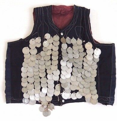 Antique Iranian Iran Persian Collectible Lion Sun Shah Pahlavi Rials Coin Vest