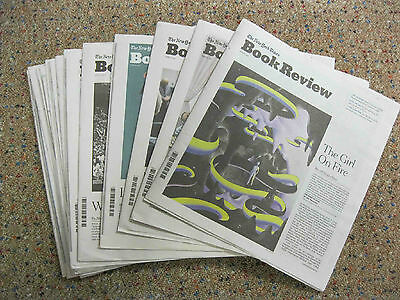 NY Times Book Review-2017-Lot of 26 Issues-January thru June-NEW!!