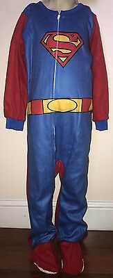Superman Boys Red And Blue Long Sleeve One Piece Size 3T